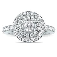 4/5 Carat Diamond Brilliance Ring in 10K White Gold