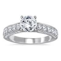 IGI Certified 1 7/8 Carat TW Diamond Ring in 14K White Gold (I-J Color, I2-I3 Clarity)