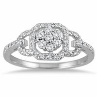 1/3 Carat Diamond Ring in 10K White Gold