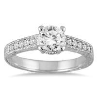 1 1/6 Carat TW Diamond Ring in 14K White Gold