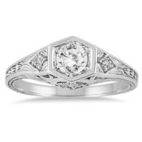 3/8 Carat TW Diamond Ring in 14K White Gold