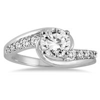 1 1/3 Carat Diamond Engagement Ring in 14K White Gold