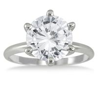 2.00 Carat Diamond Solitaire Ring in 14k White Gold