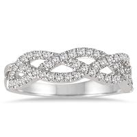 1/4 Carat TW Diamond Twist Band in 14K White Gold
