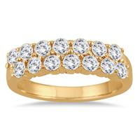 1 1/2 Carat Diamond Wedding Band in 10K Yellow Gold