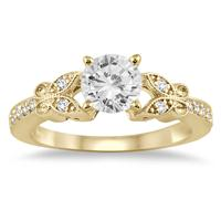3/4 Carat Diamond Engagement Ring in 14K Yellow Gold
