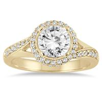 1 1/2 Carat Diamond Engagement Ring in 14K Yellow Gold