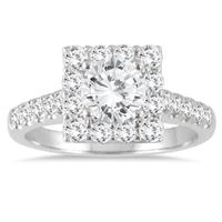 1 3/4 Carat TW Diamond Halo Bridal Set in 14K White Gold