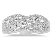 5/8 Carat Diamond Fashion Ring in 10K White Gold