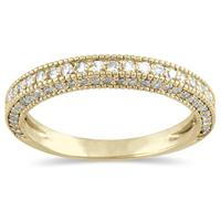 1/2 Carat Diamond Wedding Band in 10K Yellow Gold