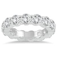 Certified Diamond Eternity Band in 14K White Gold (5.85 - 6.75 CTW)