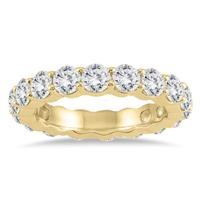 Certified Diamond Eternity Band in 14K Yellow Gold (3.20 - 3.80 CTW)