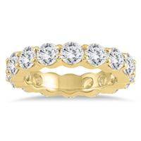 Certified Diamond Eternity Band in 14K Yellow Gold (4.62 - 5.61 CTW)
