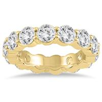 Certified Diamond Eternity Band in 14K Yellow Gold (5.85 - 6.75 CTW)
