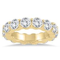 IGI/AGS Certified Diamond Eternity Band in 14K Yellow Gold (6.50 - 7.50 CTW)