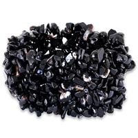 500 Carat All Natural Uncut Genuine Onyx Stretch Cuff Bracelet