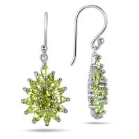 3.00 Carat Peridot Hook Earrings in .925 Sterling Silver