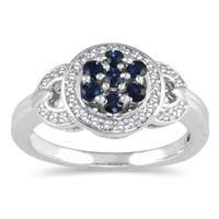 Sapphire and Diamond Lucy Ring in Sterling Silver