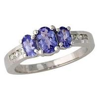 Tanzanite and Diamond Channel Ring