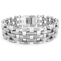 Stainless Steel Wide Mens Link Bracelet
