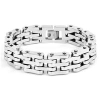 Crucible Stainless Steel Link Bracelet