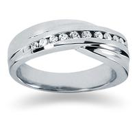 0.24 ctw. Men's Round  Diamond Wedding Band in 18K White Gold