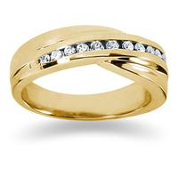 0.24 ctw. Men's Round  Diamond Wedding Band in 14K Yellow Gold