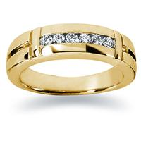 0.28 ctw. Men's Round  Diamond Wedding Band in 18K Yellow Gold