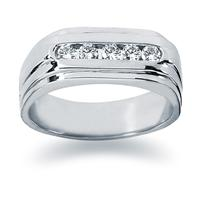 0.35 ctw. Men's Round  Diamond Wedding Band in 14K White Gold