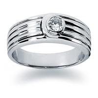 0.25 ctw. Men's Round  Diamond Wedding Band in 18K White Gold