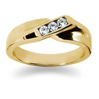 0.21 ctw. Men's Round  Diamond Wedding Band in 14K Yellow Gold