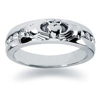 0.32 ctw. Men's Round  Diamond Wedding Band in 18K White Gold