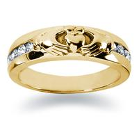 0.32 ctw. Men's Round  Diamond Wedding Band in 18K Yellow Gold