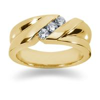 0.3 ctw. Men's Round  Diamond Wedding Band in 14K Yellow Gold