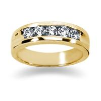 0.5 ctw. Men's Round  Diamond Wedding Band in 14K Yellow Gold