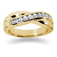 0.55 ctw. Men's Round  Diamond Wedding Band in 14K Yellow Gold