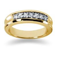 0.49 ctw. Men's Round  Diamond Wedding Band in 14K Yellow Gold