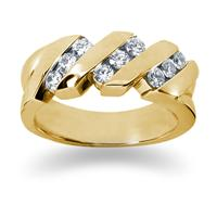 0.72 ctw. Men's Round  Diamond Wedding Band in 14K Yellow Gold