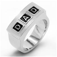 Men's Stainless Steel 'DAD' Ring