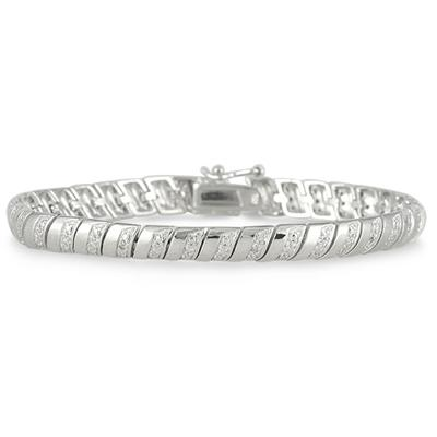 Diamond Rolex Bracelet in .925 Sterling Silver