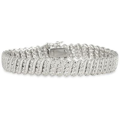1.00 Carat Diamond Tennis Bracelet in .925 Sterling Silver