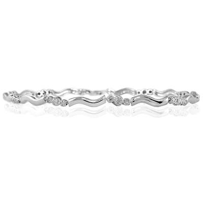 1/4 Carat TW Three Stone Diamond Bracelet in 14k White Gold