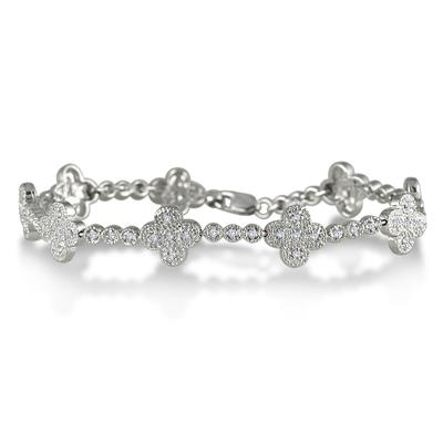 1/2 Carat T.W Diamond Bracelet in .925 Sterling Silver