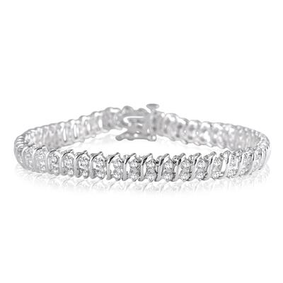 1.00 Carat Diamond Tennis Bracelet in .925 Sterling Silver