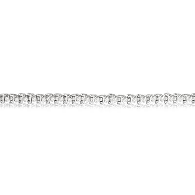 1/2 Carat Genuine Diamond S link Tennis Bracelet in .925 Sterling Silver