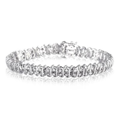2.00 Carat Diamond Tennis Bracelet in .925 Sterling Silver