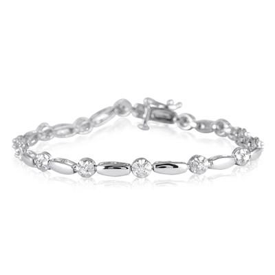 1/3 Carat Diamond Bracelet in.925 Sterling Silver