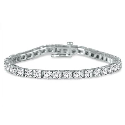 5.00 Carat Classic Diamond Tennis Bracelet in 14K White Gold