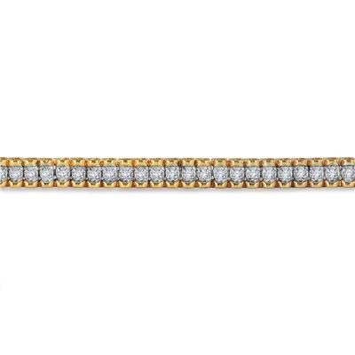 1.00 Carat Diamond Tennis Bracelet in 18K Yellow Gold Plated Sterling Silver