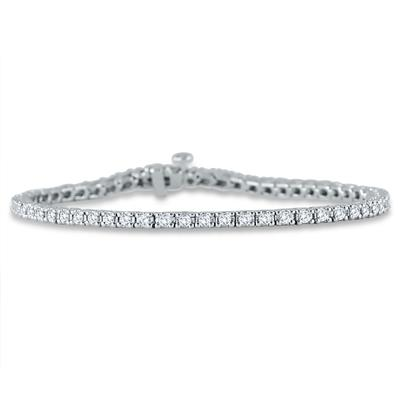 2.00 Carat Classic Diamond Tennis Bracelet in 10K White Gold